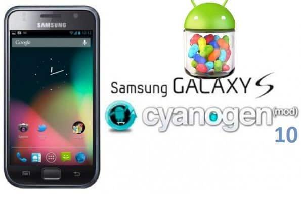 samsung galaxy s i9000 jelly bean 4.1.1 cyanogenmod 10