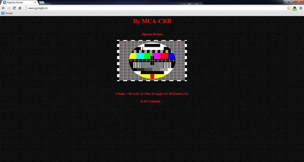 MCA CRB Algerian Hacker a spart google