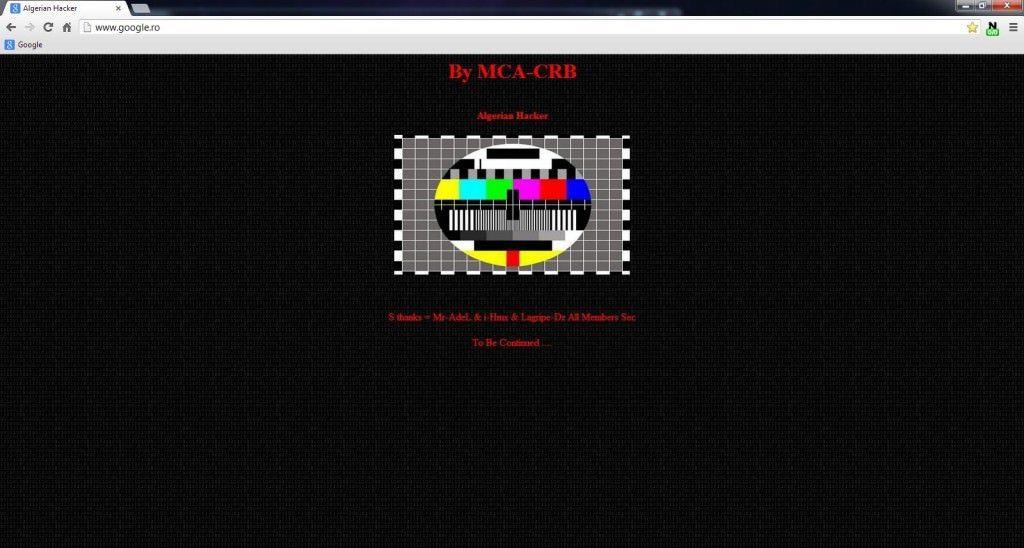 google.ro hacked algerian