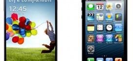 sung Galaxy S4 vs iPhone 5